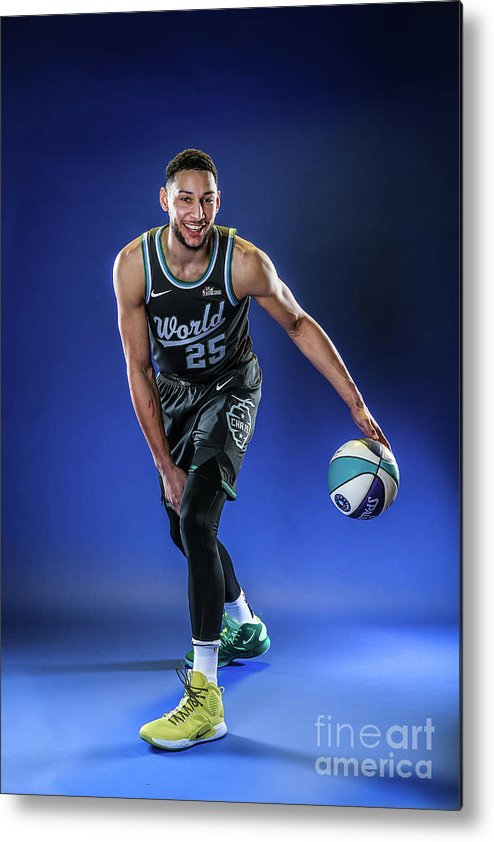 Nba Pro Basketball Metal Print featuring the photograph Ben Simmons by Michael J. Lebrecht Ii