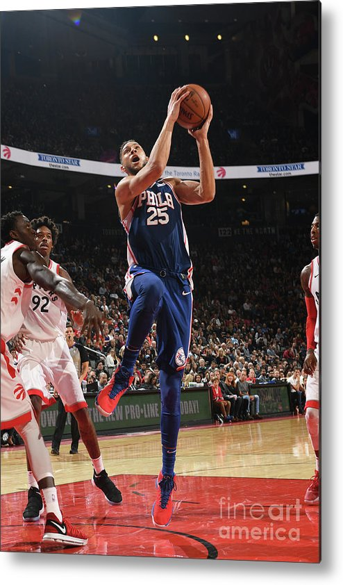 Nba Pro Basketball Metal Print featuring the photograph Ben Simmons by Ron Turenne