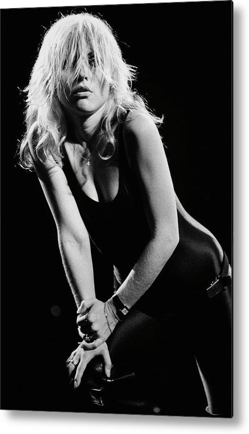 Rock Music Metal Print featuring the photograph Blondie In Concert At The Whiskey by George Rose