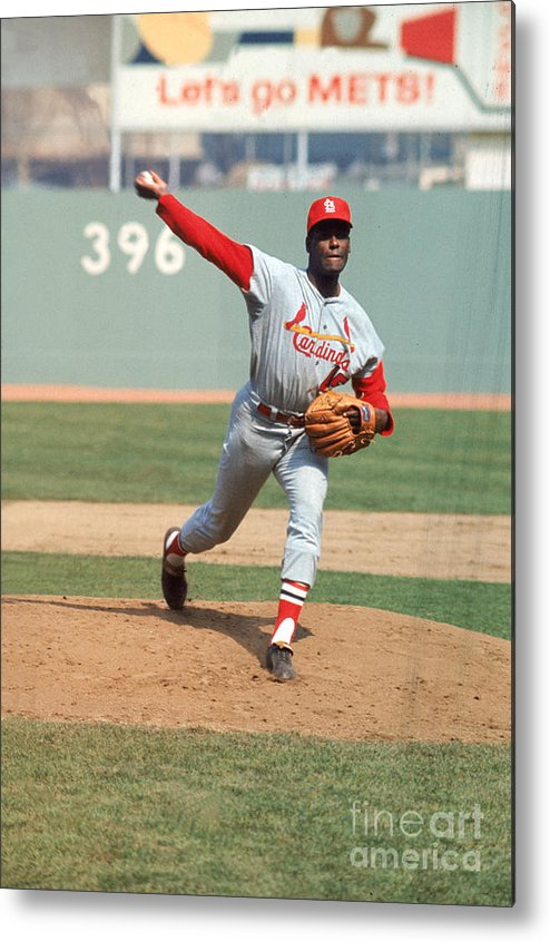 St. Louis Cardinals Metal Print featuring the photograph Bob Gibson by Louis Requena