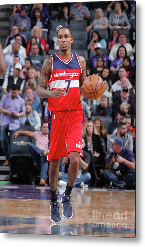 Nba Pro Basketball Metal Print featuring the photograph Brandon Jennings by Rocky Widner