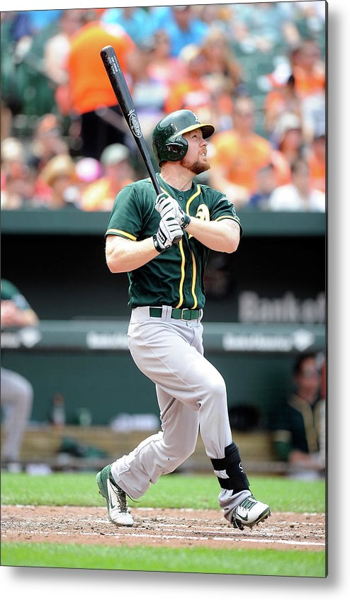 American League Baseball Metal Print featuring the photograph Brandon Moss by Greg Fiume