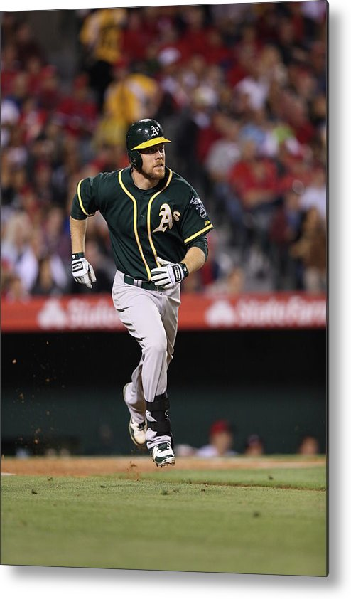 American League Baseball Metal Print featuring the photograph Brandon Moss by Paul Spinelli