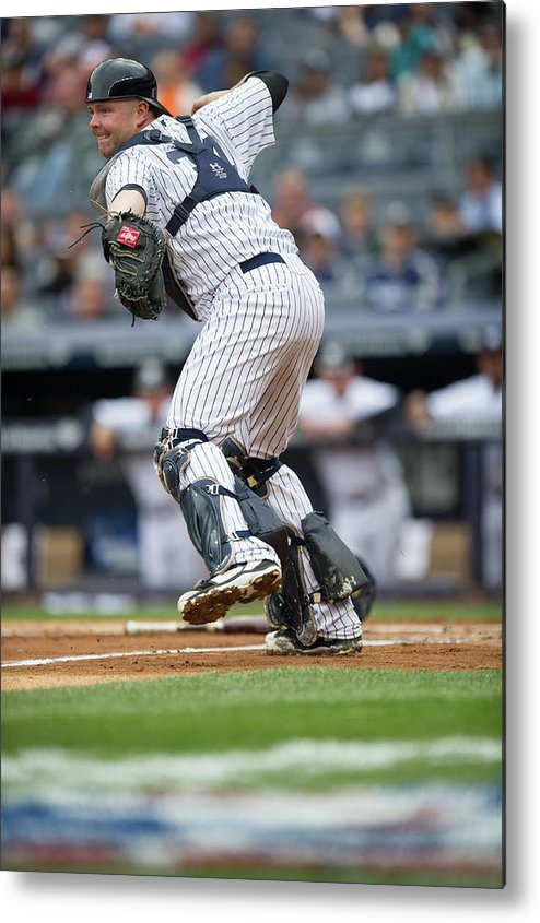 Brian Mccann Metal Print featuring the photograph Brian Mccann by Rob Tringali