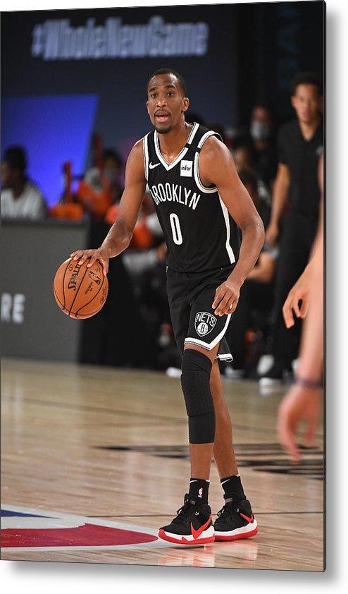 Nba Pro Basketball Metal Print featuring the photograph Brooklyn Nets v San Antonio Spurs by Garrett Ellwood