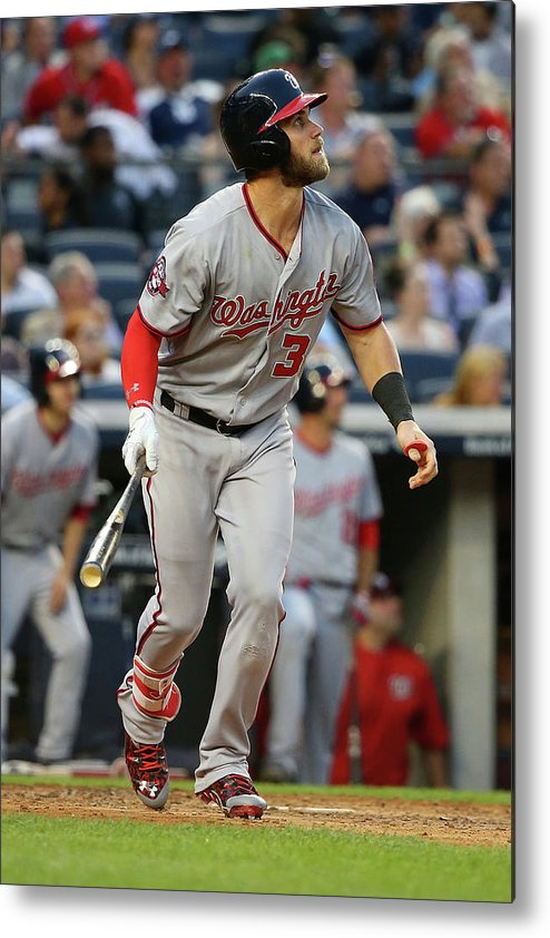 People Metal Print featuring the photograph Bryce Harper by Mike Stobe