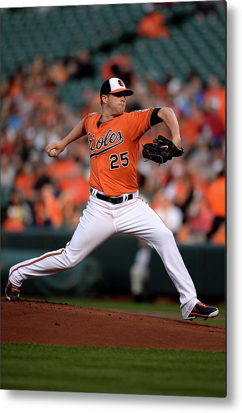 Working Metal Print featuring the photograph Bud Norris by Patrick Smith