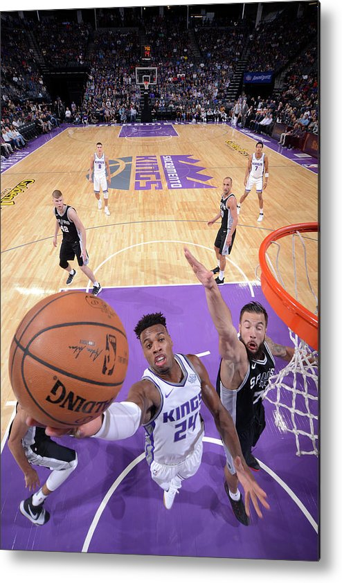 Nba Pro Basketball Metal Print featuring the photograph Buddy Hield and Joffrey Lauvergne by Rocky Widner