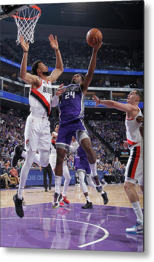 Nba Pro Basketball Metal Print featuring the photograph Buddy Hield and Skal Labissiere by Rocky Widner