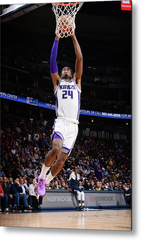 Nba Pro Basketball Metal Print featuring the photograph Buddy Hield by Bart Young