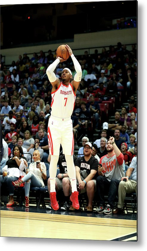 Nba Pro Basketball Metal Print featuring the photograph Carmelo Anthony by Joe Murphy