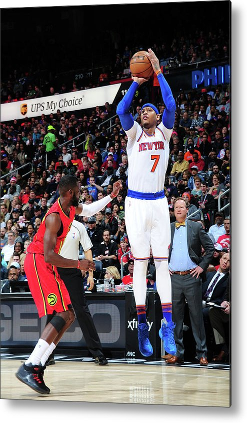 Atlanta Metal Print featuring the photograph Carmelo Anthony by Scott Cunningham