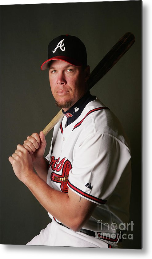 Media Day Metal Print featuring the photograph Chipper Jones by Elsa
