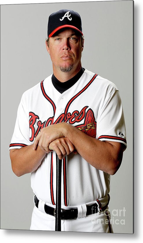Media Day Metal Print featuring the photograph Chipper Jones by Matthew Stockman