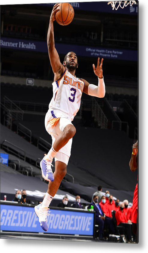 Nba Pro Basketball Metal Print featuring the photograph Chris Paul by Barry Gossage