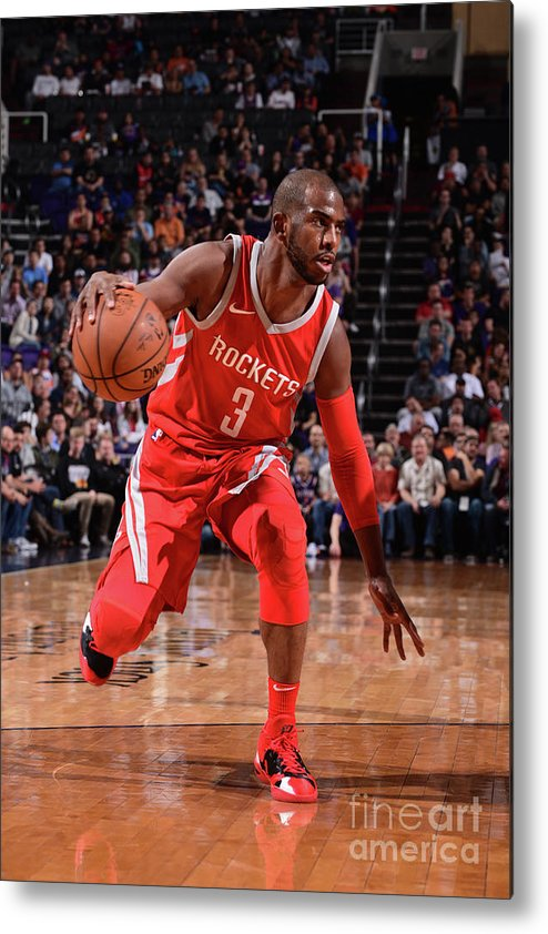 Nba Pro Basketball Metal Print featuring the photograph Chris Paul by Michael Gonzales