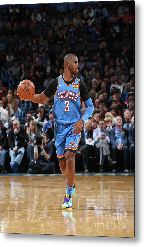 Nba Pro Basketball Metal Print featuring the photograph Chris Paul by Zach Beeker