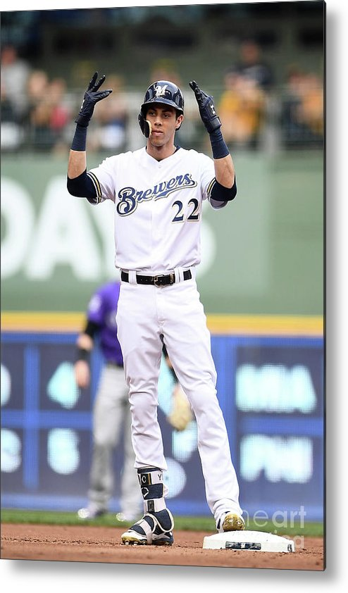 People Metal Print featuring the photograph Christian Yelich by Stacy Revere