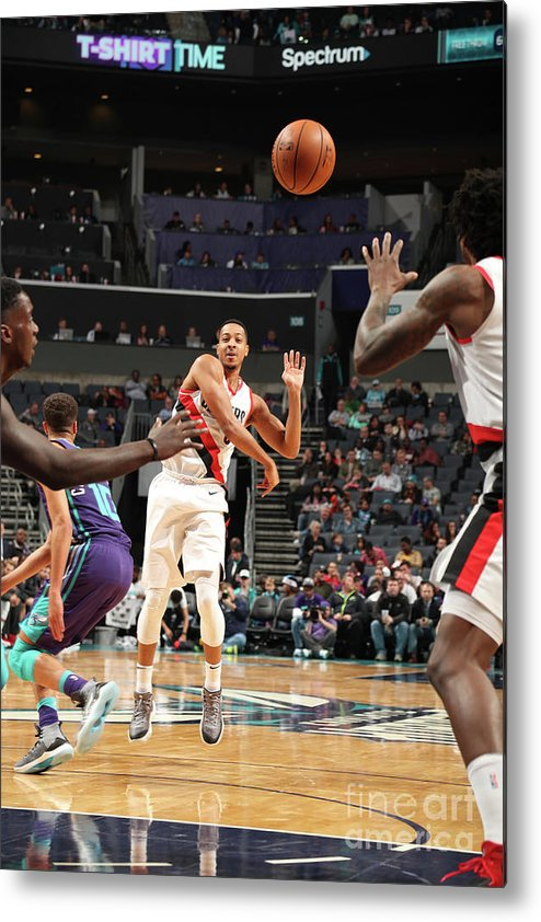 Nba Pro Basketball Metal Print featuring the photograph C.j. Mccollum by Kent Smith