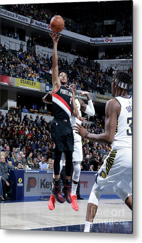 Nba Pro Basketball Metal Print featuring the photograph C.j. Mccollum by Ron Hoskins