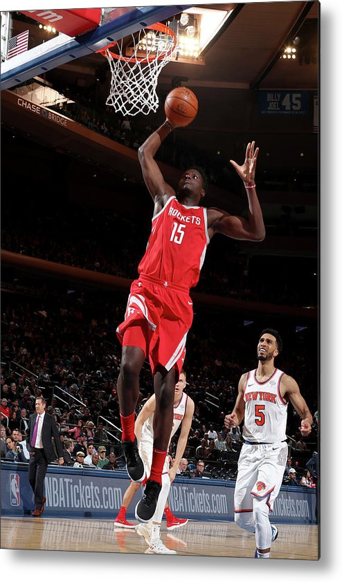 Nba Pro Basketball Metal Print featuring the photograph Clint Capela by Nathaniel S. Butler