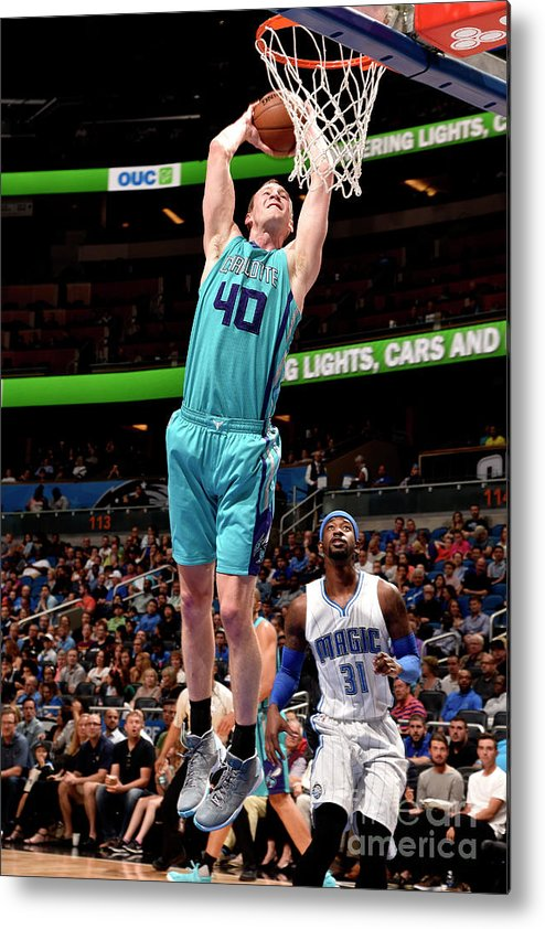 Nba Pro Basketball Metal Print featuring the photograph Cody Zeller by Gary Bassing