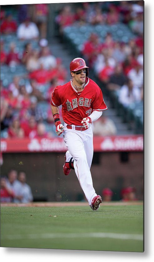 American League Baseball Metal Print featuring the photograph Collin Cowgill by Paul Spinelli