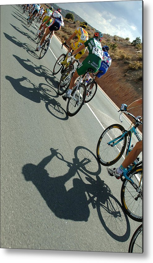 Shadow Metal Print featuring the photograph Cycling : Tour Of Spain / Stage 13 by Tim de Waele