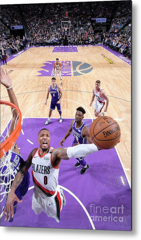 Nba Pro Basketball Metal Print featuring the photograph Damian Lillard by Rocky Widner