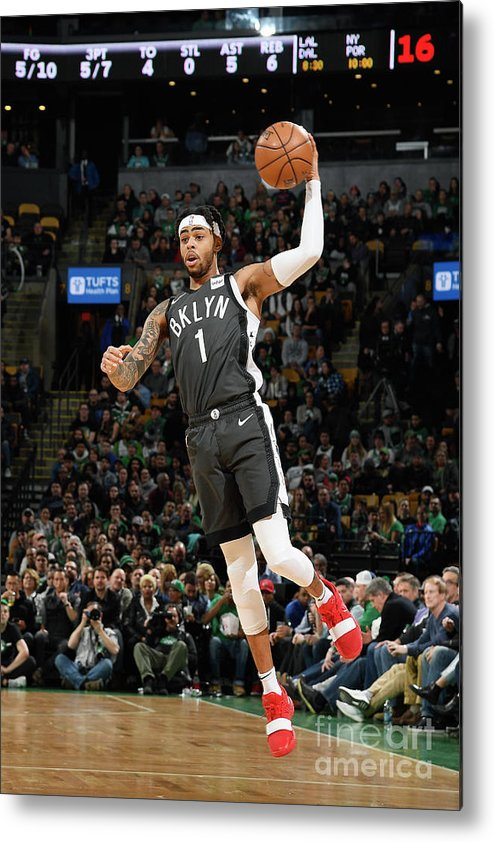 Nba Pro Basketball Metal Print featuring the photograph D'angelo Russell by Brian Babineau