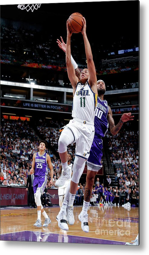 Nba Pro Basketball Metal Print featuring the photograph Dante Exum by Rocky Widner
