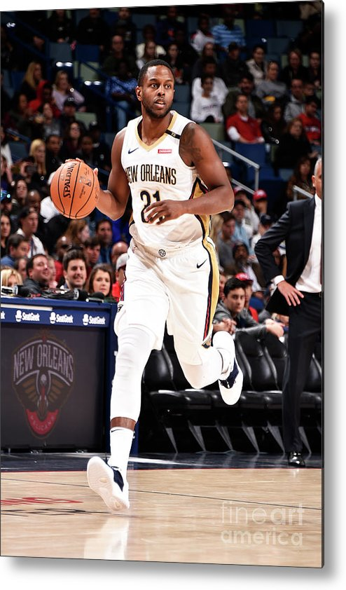 Smoothie King Center Metal Print featuring the photograph Darius Miller by Bill Baptist