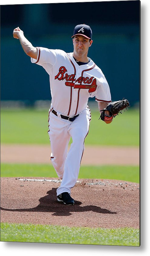 American League Baseball Metal Print featuring the photograph David Hale by Stacy Revere