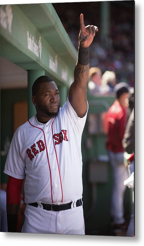 East Metal Print featuring the photograph David Ortiz by Rob Tringali
