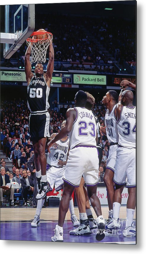 Nba Pro Basketball Metal Print featuring the photograph David Robinson by Rocky Widner