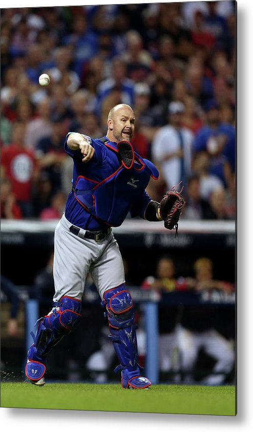 Playoffs Metal Print featuring the photograph David Ross by Brad Mangin