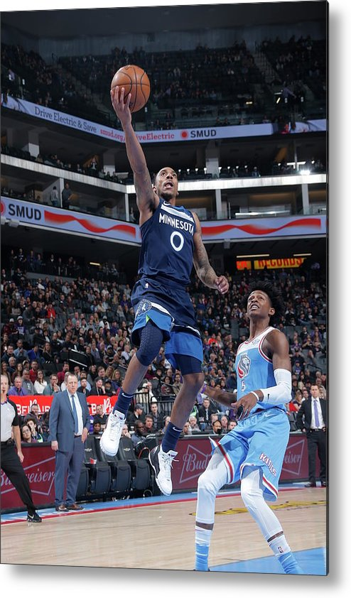 Nba Pro Basketball Metal Print featuring the photograph De'aaron Fox and Jeff Teague by Rocky Widner