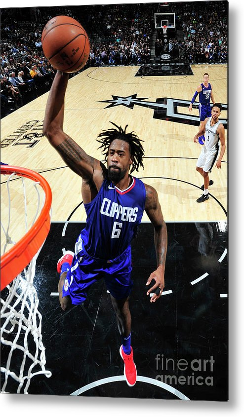 Nba Pro Basketball Metal Print featuring the photograph Deandre Jordan by Mark Sobhani