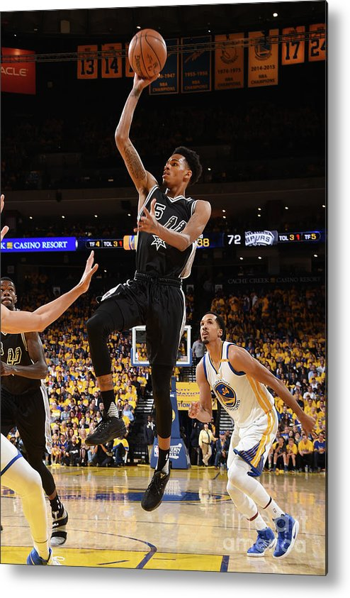 Playoffs Metal Print featuring the photograph Dejounte Murray by Andrew D. Bernstein