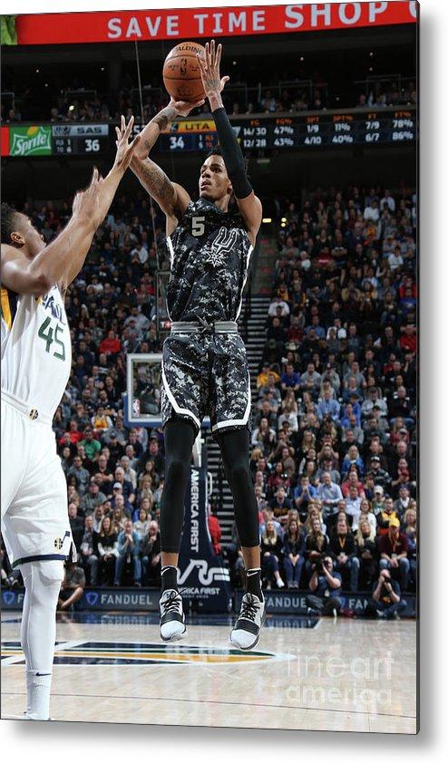 Nba Pro Basketball Metal Print featuring the photograph Dejounte Murray by Melissa Majchrzak