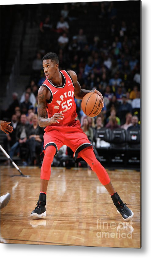 Nba Pro Basketball Metal Print featuring the photograph Delon Wright by Garrett Ellwood