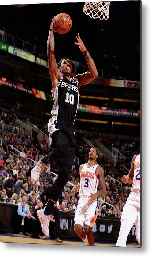 Nba Pro Basketball Metal Print featuring the photograph Demar Derozan by Barry Gossage