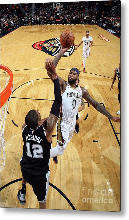 Smoothie King Center Metal Print featuring the photograph Demarcus Cousins by Layne Murdoch Jr.