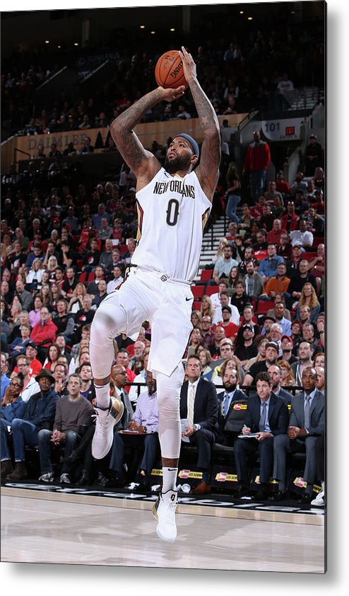 Nba Pro Basketball Metal Print featuring the photograph Demarcus Cousins by Sam Forencich