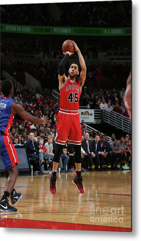 Nba Pro Basketball Metal Print featuring the photograph Denzel Valentine by Gary Dineen