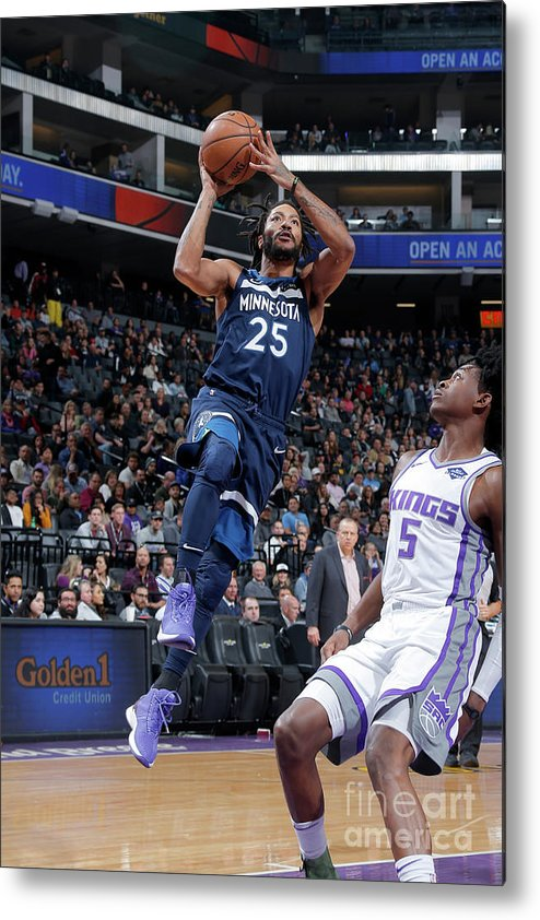 Nba Pro Basketball Metal Print featuring the photograph Derrick Rose by Rocky Widner