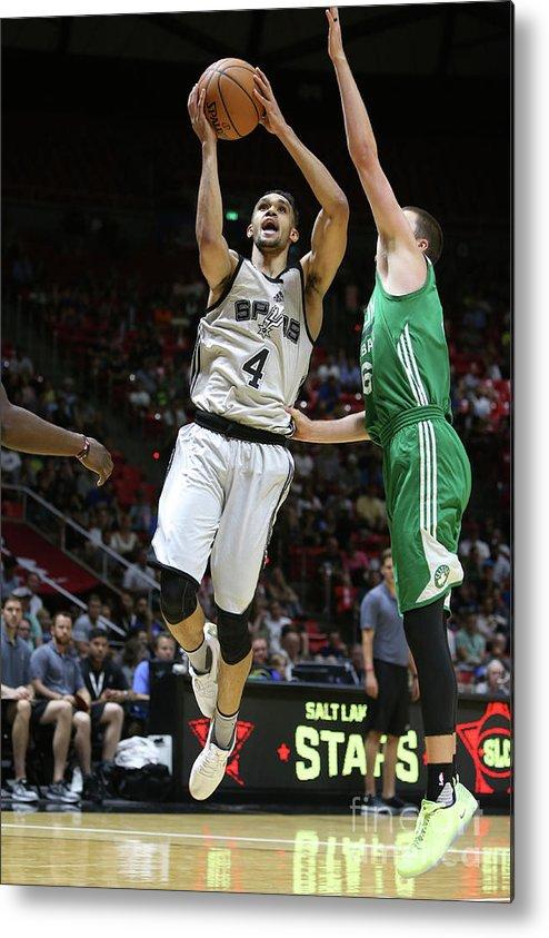 Nba Pro Basketball Metal Print featuring the photograph Derrick White by Melissa Majchrzak