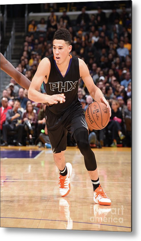 Nba Pro Basketball Metal Print featuring the photograph Devin Booker by Andrew D. Bernstein