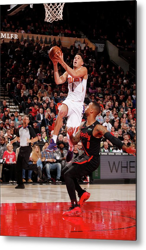 Nba Pro Basketball Metal Print featuring the photograph Devin Booker by Cameron Browne