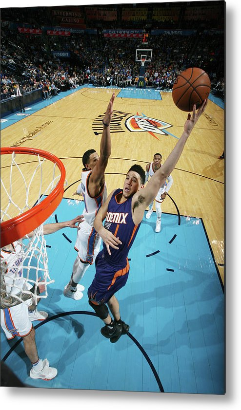 Nba Pro Basketball Metal Print featuring the photograph Devin Booker by Layne Murdoch